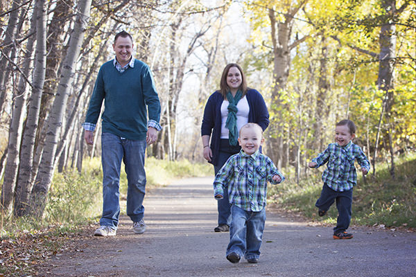 Fall family photos in Calgary